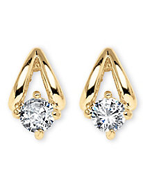 Round Cubic Zirconia Earrings
