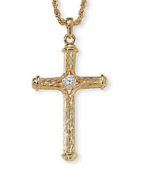 Crystal Decorative Cross Pendant Necklace
