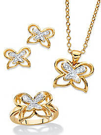 Diamond Butterflies 3-Piece Set