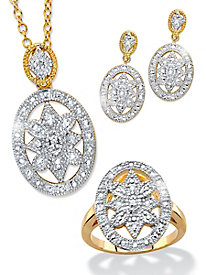 Vintage Genuine Diamond 3-Piece Set