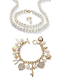 Genuine Cultured Freshwater Pearl 3-Piece Set