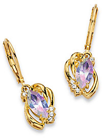 Aurora Borealis Crystal 14k Gold-Plated Earrings
