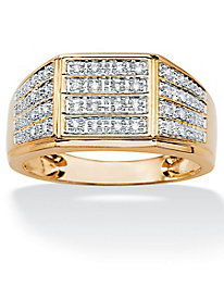 Men's Pave Diamond Multi-Row Ring