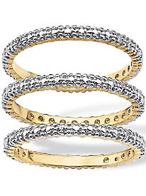Diamond Accent 3-pc Stack Ring Eternity Band Set