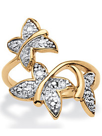 Diamond Accent Butterfly Ring
