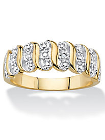 Diamond Accent 18k Gold-Plated Ring