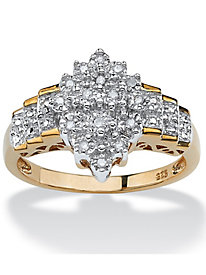 Diamond Cutout Step Ring