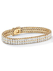 Princess-Cut Cubic Zirconia Tennis Bracelet