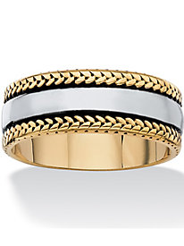 Men's Two-Toned Band Bracelet