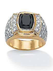 Men's Onyx and CZ Ring