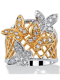 .48 TCW Cubic Zirconia Butterfly Ring