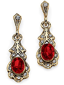 Birthstone Earrings Gold Tone