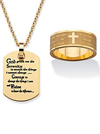 Serenity Prayer Gold 2-Piece Set