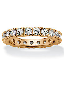 Round Cubic Zirconia Eternity Band