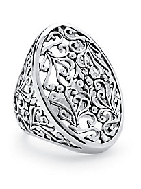 Oval Vintage-Inspired Filigree Ring