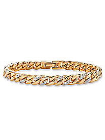 Ladies' Diamond Accent Curb Bracelet