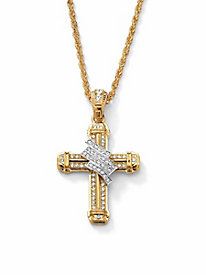 Crystal-Wrapped Cross Pendant