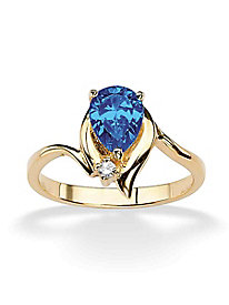 Pear-Cut Birthstone Ring