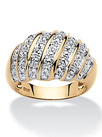 Diamond Accent Pavé Style Dome Ring