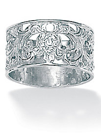 Vintage-Inspired Filigree Band