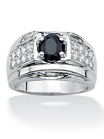 Genuine Midnight Blue Sapphire Ring
