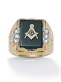 Genuine Onyx Masonic Ring