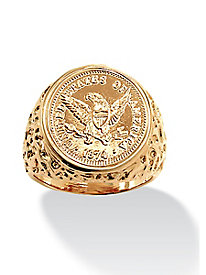 American Eagle Coin Replica Ring