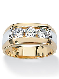 Men's Triple Cubic Zirconia Ring