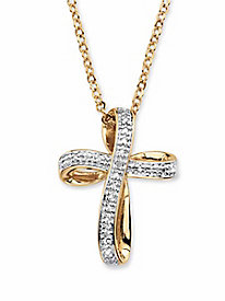 Faithful Cross Diamond Pendant Necklace