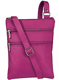 Sara Morgan™ Microfiber Cross-Body Bag