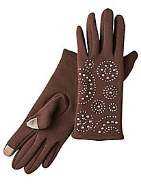 Embellished Touchscreen Gloves