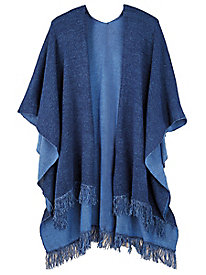 Salon Studio Fringe-Trim Shawl