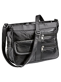 9-Pocket Leather Handbag