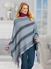 Salon Studio Fringe-Trim Poncho