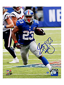 Rashad Jennings Signed New York Giants Run vs. Houston Texans 8x10 Photo