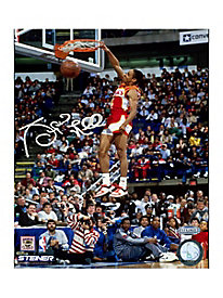 Spud Webb Signed Slam Dunk Contest 8x10 Photo