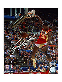 Dominique Wilkins Signed Slam Dunk Contest 8x10 Photo