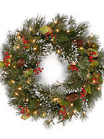"24"" Wintry Pine Wreath..."