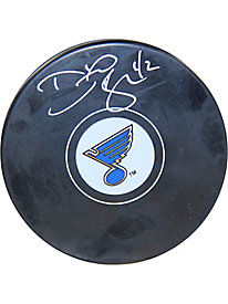 David Backes Signed St. Louis Blues Puck