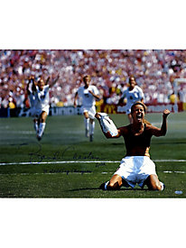 "Brandi Chastain Signed PK Celebration 16x20 Photo Horizontal w/ ""99 World Cup Champions"" Insc. 133520"