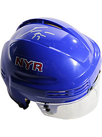 Jesper Fast Signed New York Rangers Blue Mini Helmet