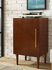Crosley Everett Record Player Stand in Mahogany Finish