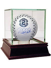Derek Jeter Signed Blue & Silver Stitching Retirement Baseball (MLB Auth)