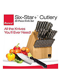 Ronco Six Star+ 30-Pc. Cutlery Set