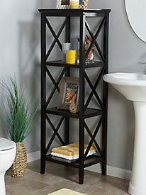 X-Frame Collection - 4-Shelf Storage Tower