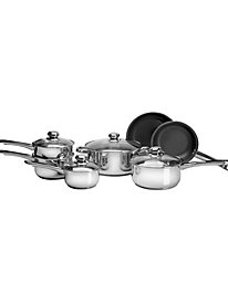 11 pc. Stainless Steel set with Eclipse® Non-Stick Fry Pans