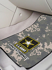 Military Branches 2-Piece Front Carpet Car Mats