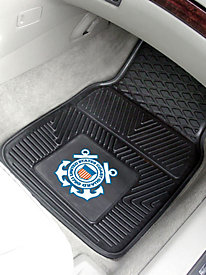 Military Branches 2-Piece Heavy-Duty Vinyl Car Mats
