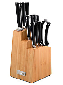 12 pc. Forged Cutlery Set with Bamboo Block