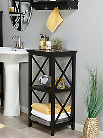 X-Frame Collection - 3-Shelf Storage Tower